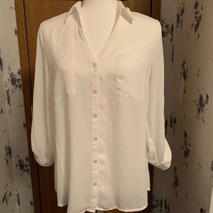 By & by white Blouse, size large.